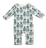 Winter Water Factory Winter Water Factory Long Sleeve Romper - Robots
