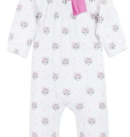 Feather Baby Feather Baby Raccoon Bow Romper
