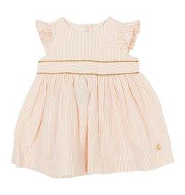 Petit Bateau Petit Bateau Sleeveles Striped Seersucker Dress