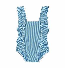 Petit Bateau Petit Bateau Striped Seersucker Swimsuit