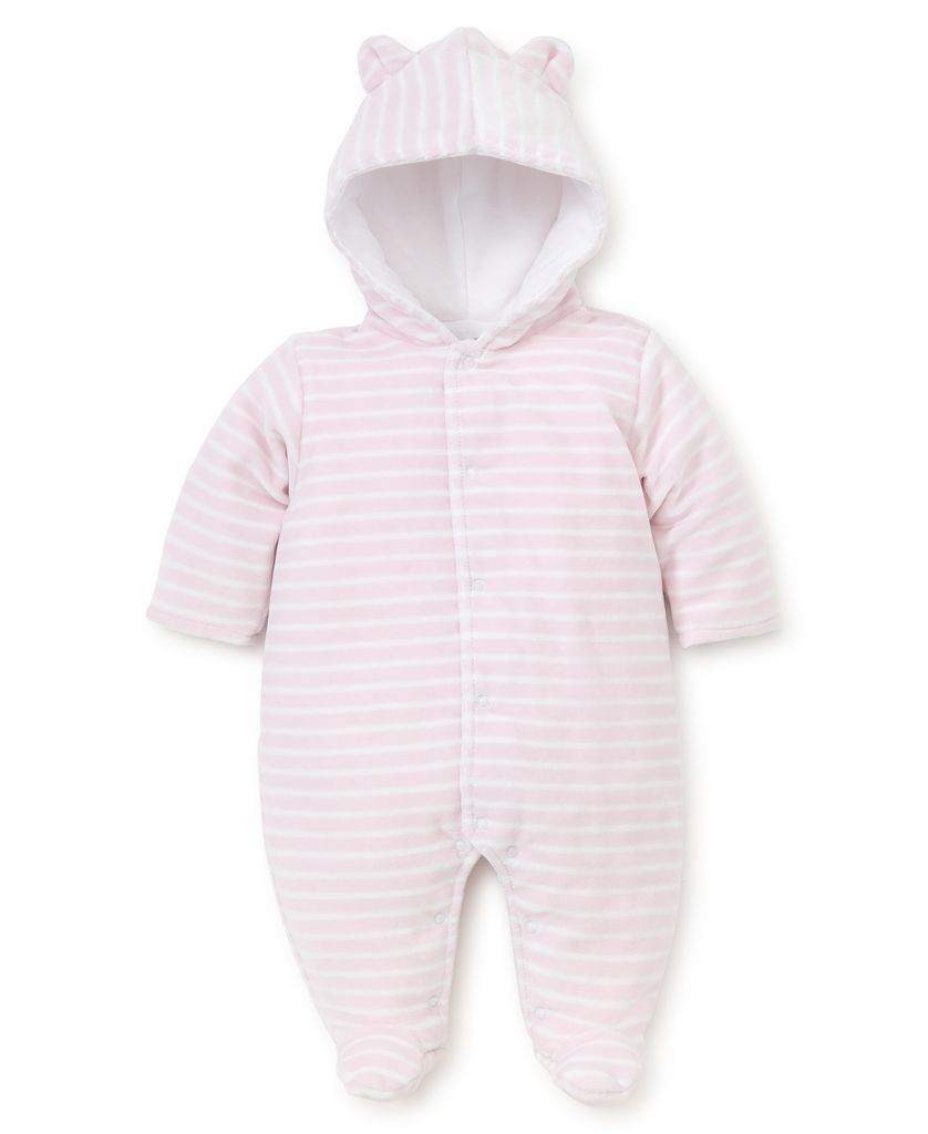 kissy kissy Kissy Kissy Velour Stripe Footed Bunting *more colors*