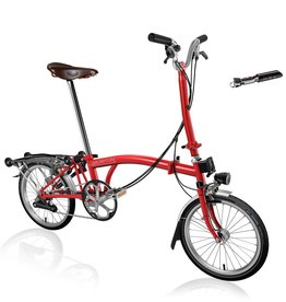 Brompton Brompton H6R - Red, SP Dynamo, Brooks B17, Tool Kit