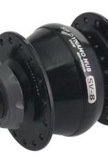 Shutter Precision Shutter Precision SV-8-FB Dynamo, Black, 28h, 74mm x 8mm