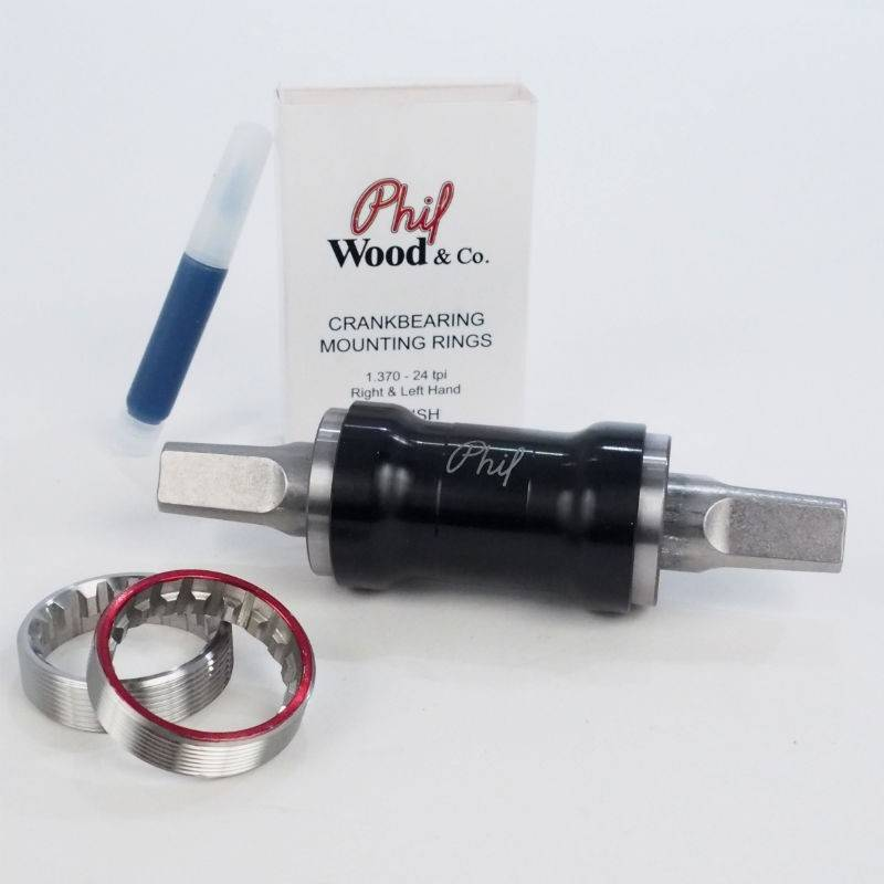 Phil Wood Phil Wood Bottom Bracket, Titanium, 119mm, JIS, Carbonite Bearings