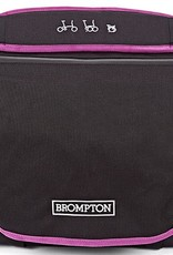 Radical Designs Brompton C Bag & Frame, Black with Berry Crush Trim