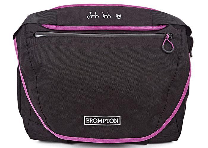 Brompton Brompton C Bag & Frame, Black with Berry Crush Trim