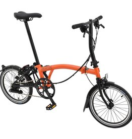 Brompton Brompton S6L Orange/Black Black Edition, Kojak Tires