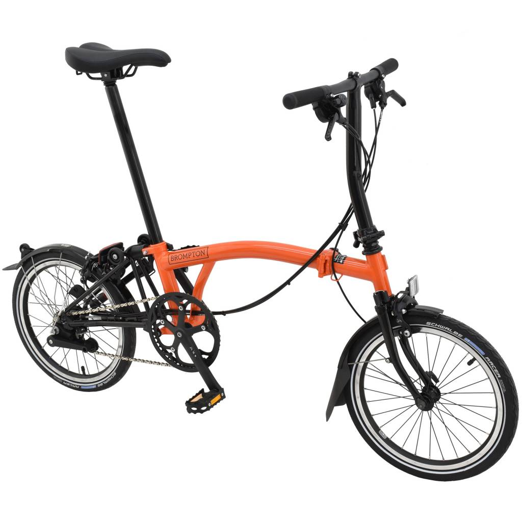 Brompton Brompton S6L Orange/Black Black Edition, Kojak Tires