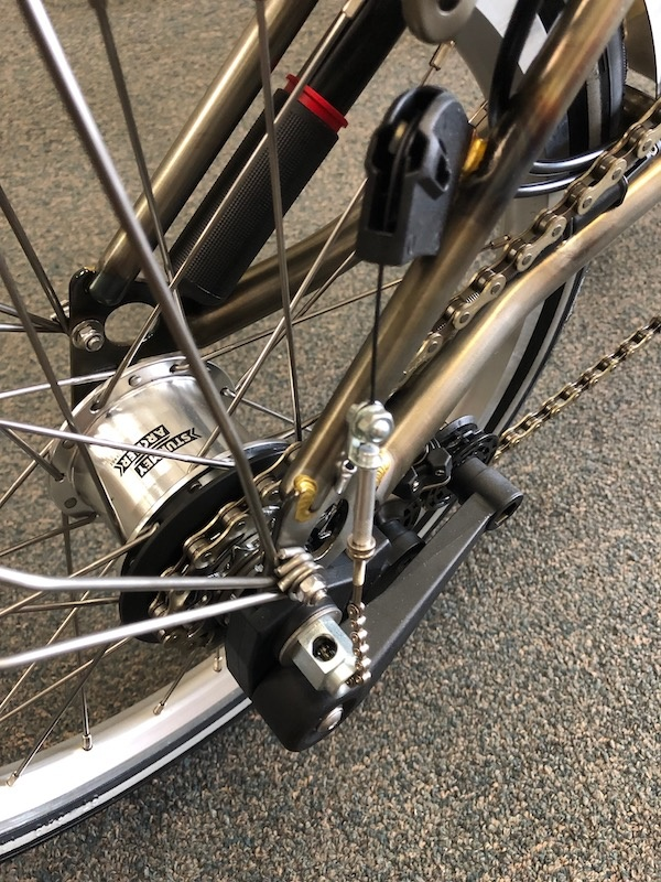 Brompton Rear Wheel Removal and Re-Installation with Sturmey Archer Internal Gear Hub (3/6 Speed)