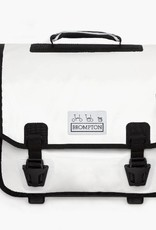 Ortlieb Brompton O Bag, White/Black with frame and strap