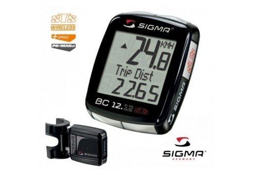 Sigma Sigma BC 12.12 STS Wireless Cycling Computer: Black