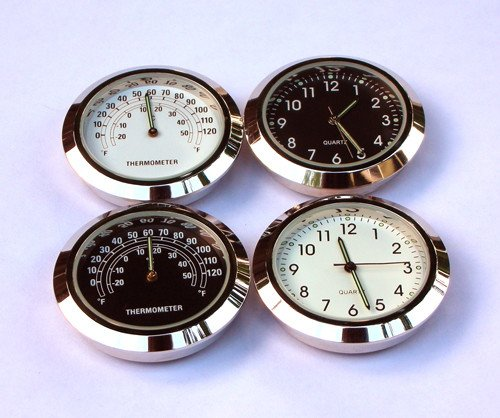 StemCaptain Stem Captain Headset Cap Thermometer, White Dial/Silver Case