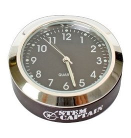 StemCaptain Stem Captain Headset Cap Clock, Black Dial/Black Case