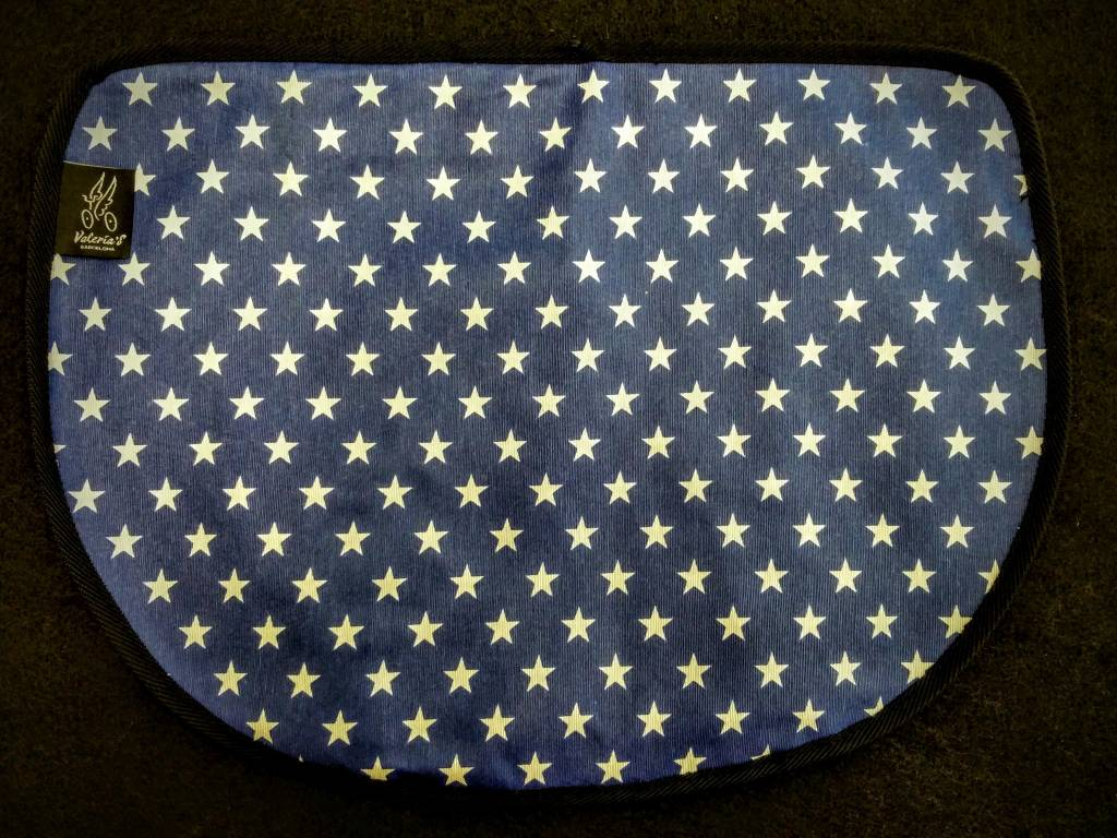 Valeria's Bike Accessories Valeria's S-Bag Flap - Blue Stars