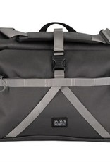 Brompton Brompton Borough Roll Top L Bag, Dark Grey, with frame