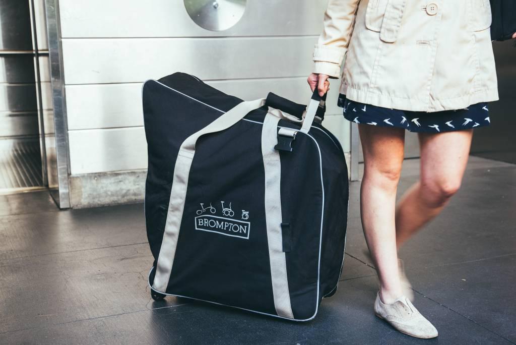 Radical Designs Brompton B Bag, with castors and strap