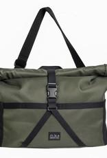 Brompton Brompton Borough Roll Top Medium Bag, Olive, with frame