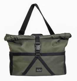 Brompton Brompton Borough Roll Top Medium Bag, Olive, with frame