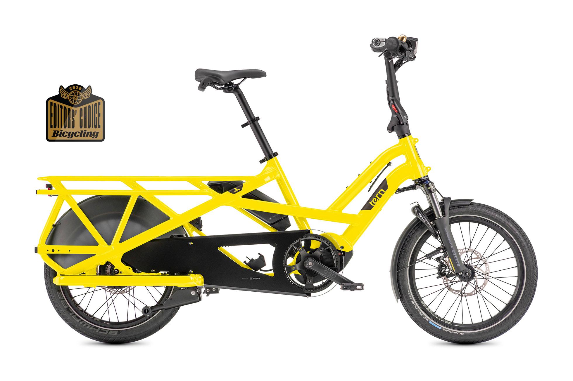 Tern Tern GSD V2 S10 LX Cargo Bike, 500Wh, School Bus Yellow, Single Battery