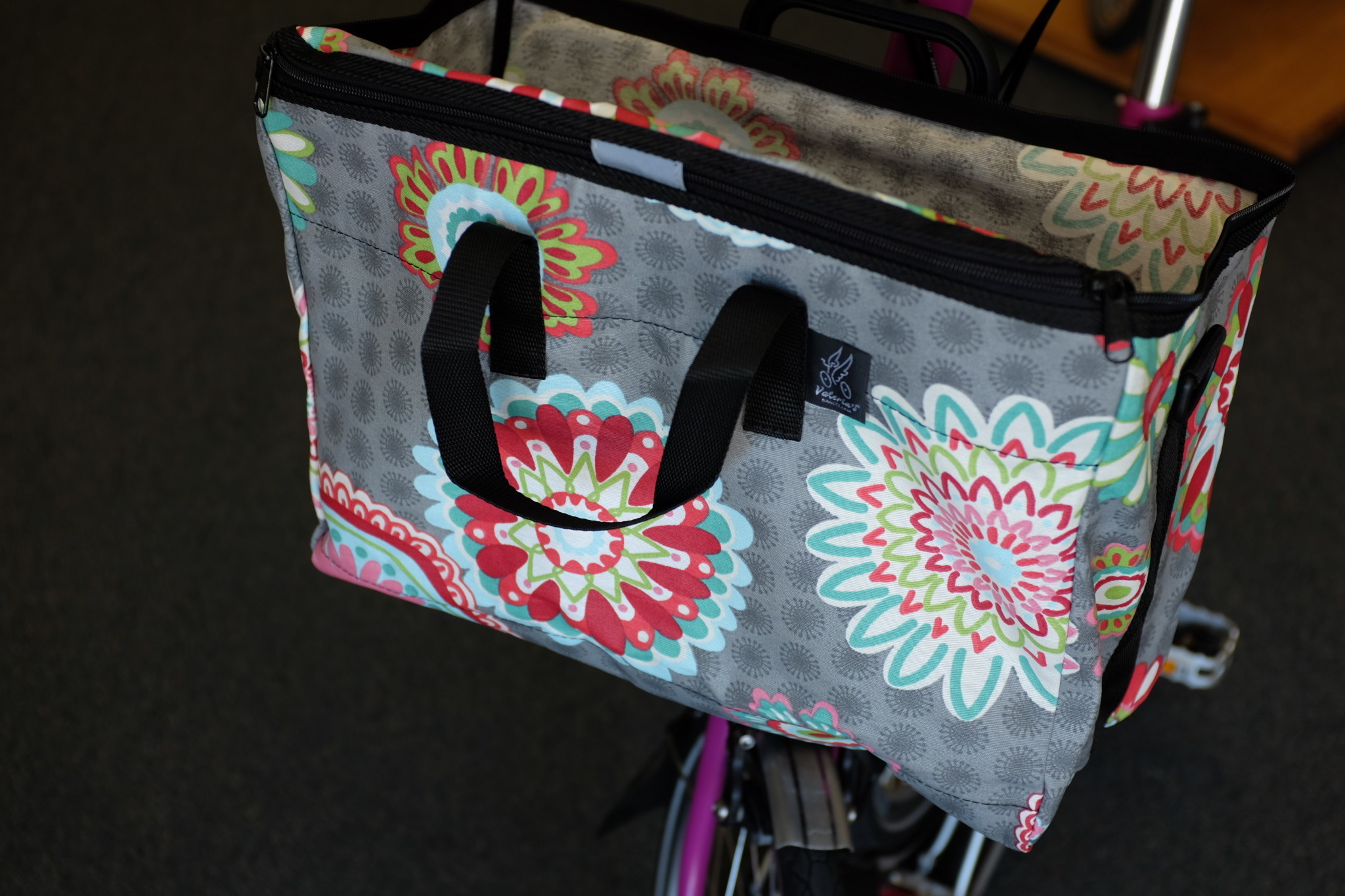 Brompton Valeria's Folding Basket for Brompton - Mandala Gray