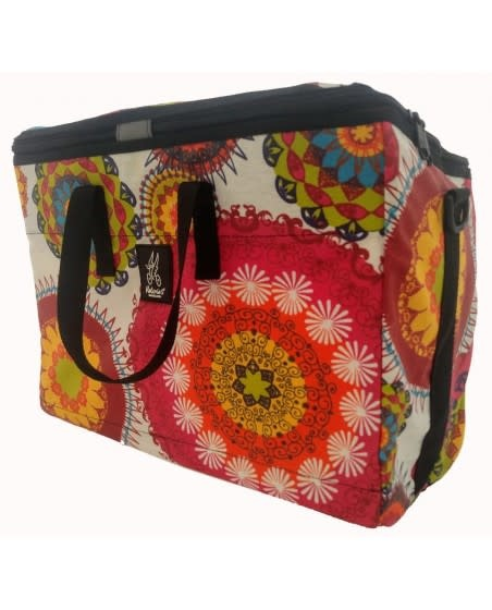 Brompton Valeria's Folding Basket for Brompton - Mandala Pink