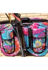 Brompton Valeria's Folding Basket for Brompton - Mandala Turquoise