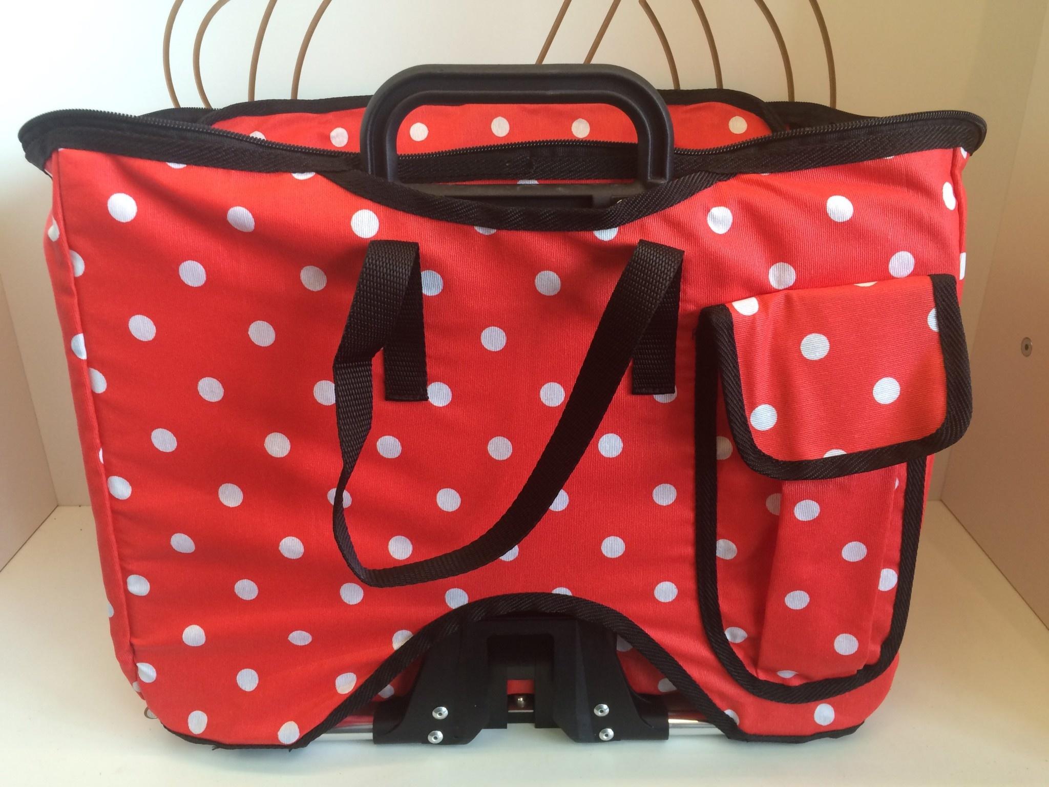 Brompton Valeria's Folding Basket for Brompton - Red Polka Dot