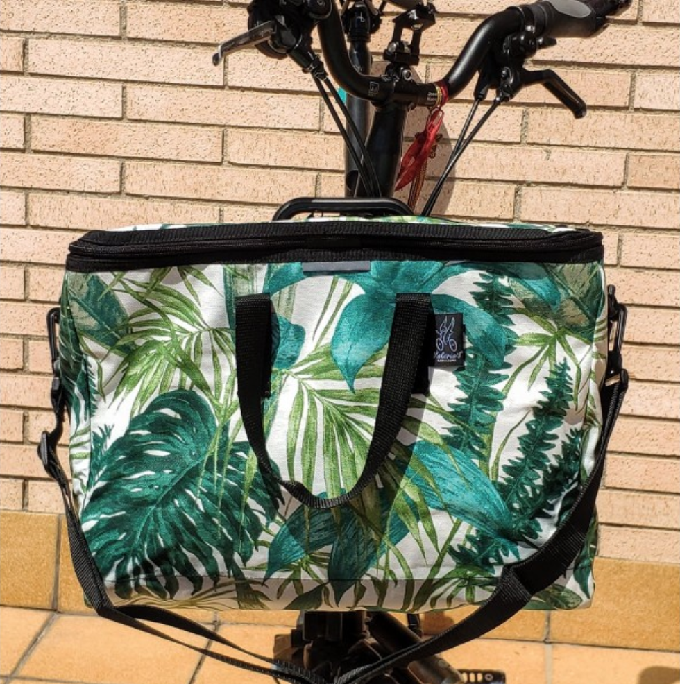 Brompton Valeria's Folding Basket for Brompton - Tropical