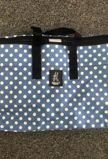Brompton Valeria's Folding Basket for Brompton - Blue Polka Dot