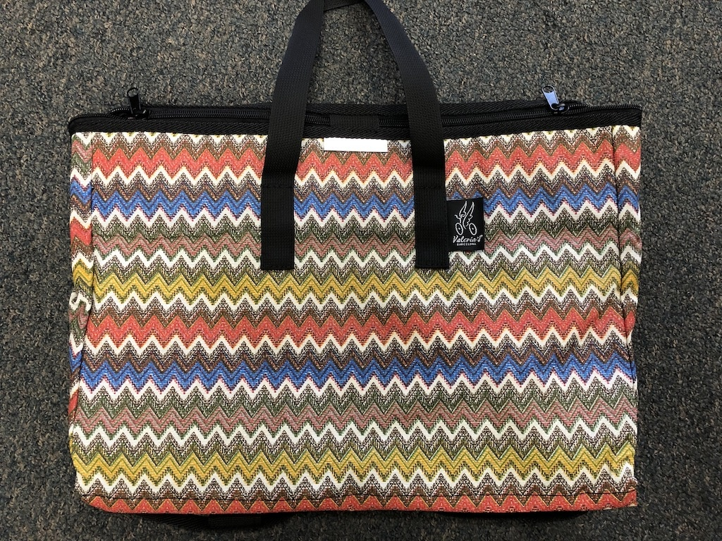 Brompton Valeria's Folding Basket for Brompton - Wavy Colors