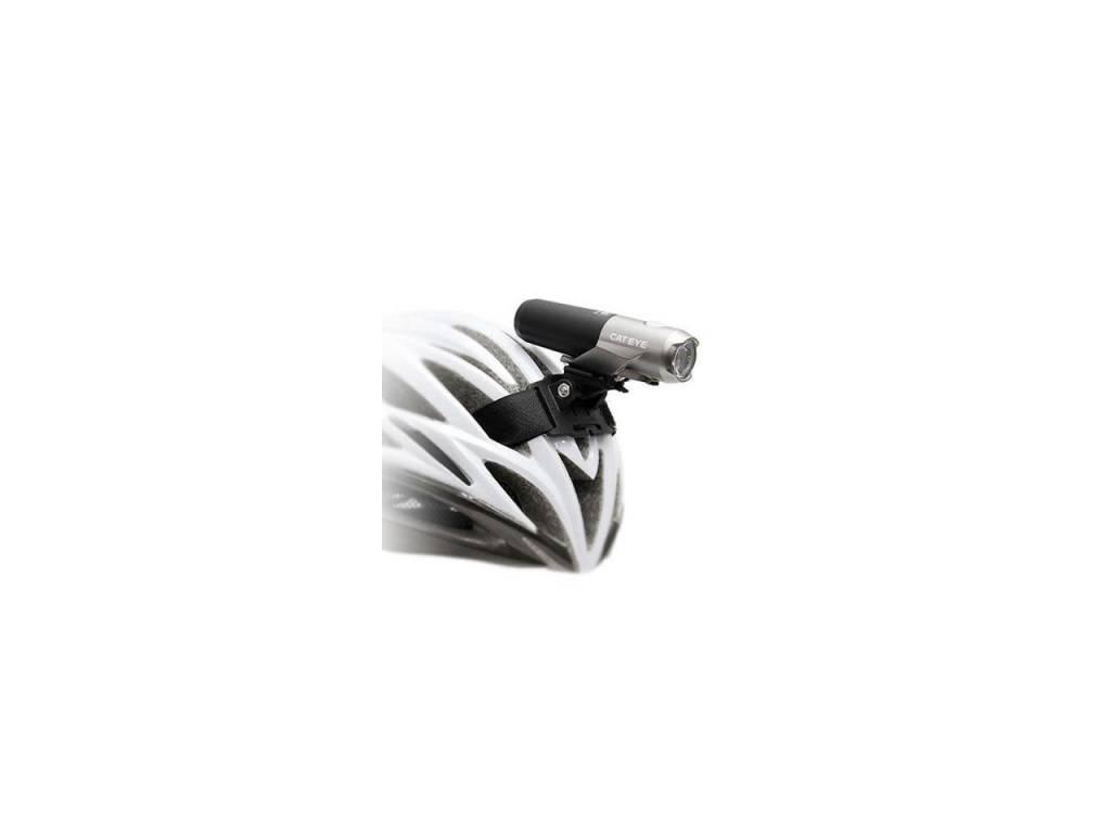 CatEye CatEye Volt 300, HL-EL460RC Silver/Black, w/Helmet Mount