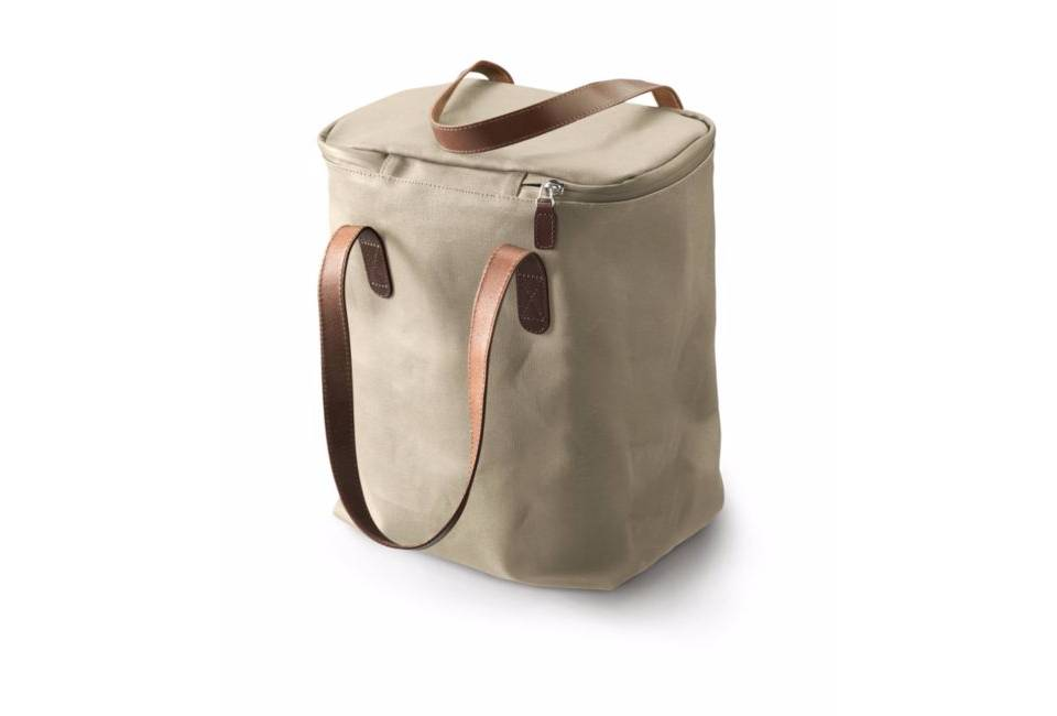 Brooks Brooks Camden Tote Bag - Canvas with Leather Handles Sand/Chocolate