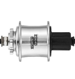 Sturmey Archer 3x9-spd Freewheel Hub, 32h - Silver, 6-Bolt Disc