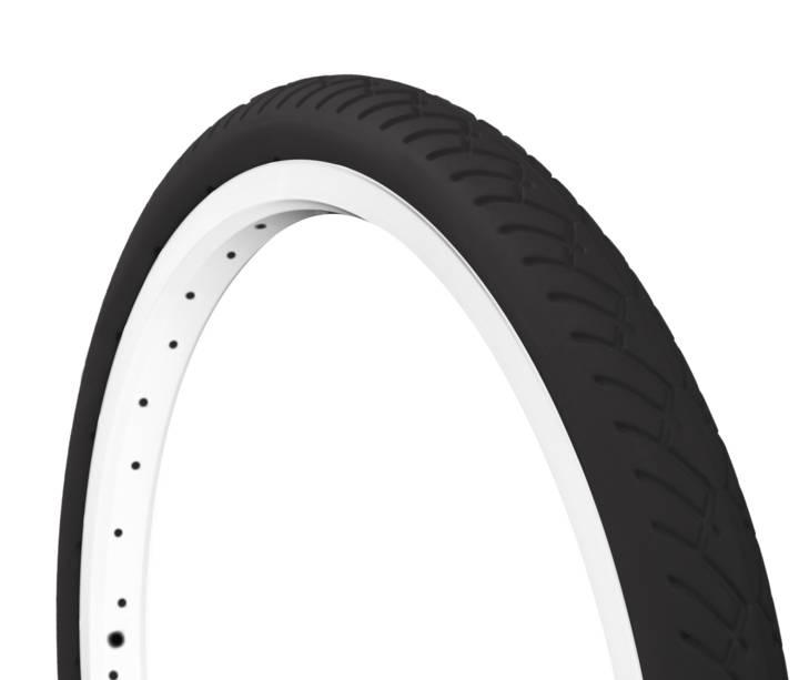 """Tannus Tannus Solid Tire, 16"""" x 1.25"""" for Brompton, Black"""