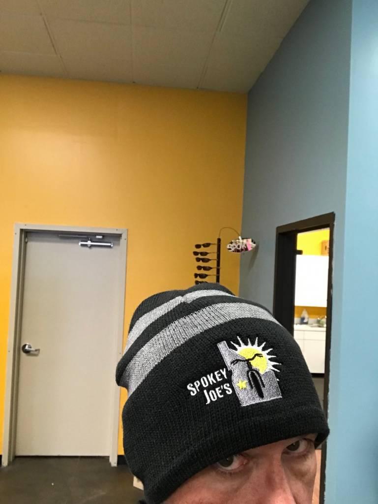 Spokey Joe's Logo Gear Spokey Joe Logo Beanie, Black/Grey