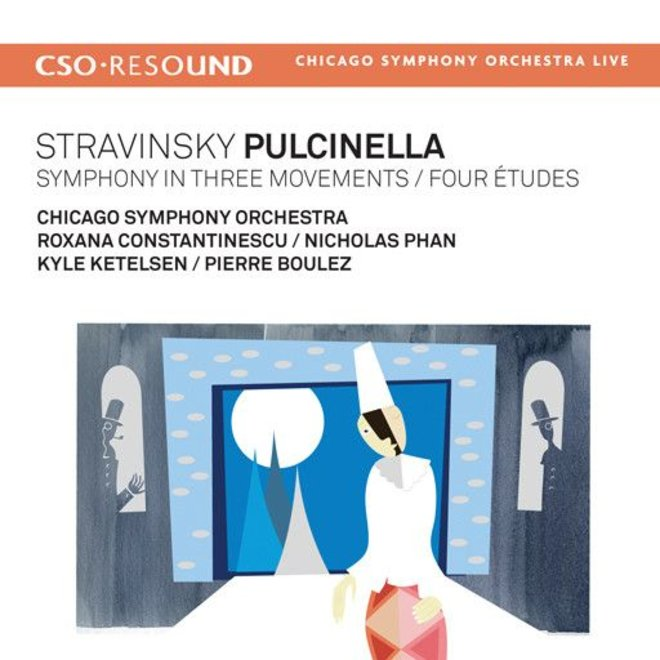 CD Stravinsky: Pulcinella, Symphony in Three Movements, Four Etudes,  Boulez/CSO