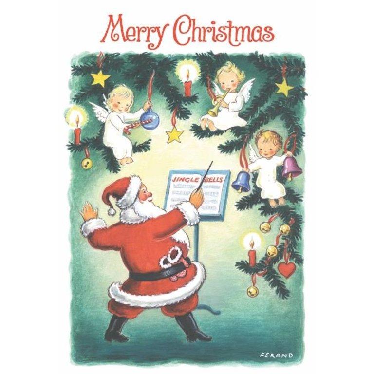 Angels Christmas Cards.Symphony Store Boxed Notes Santa Conducting Angels Christmas