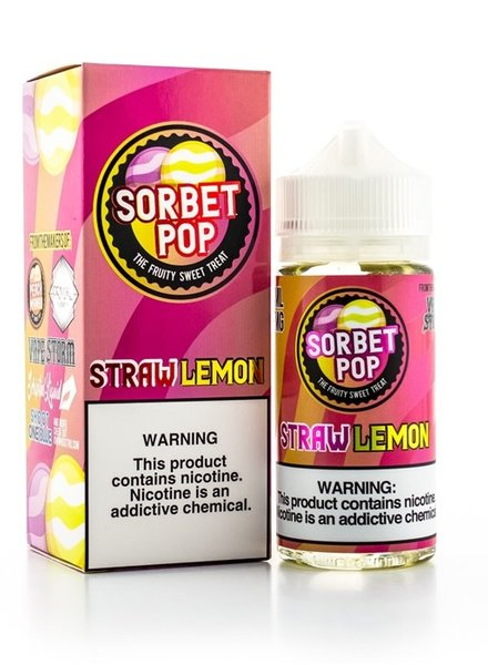 Sorbet Pop Straw Lemon 100ml