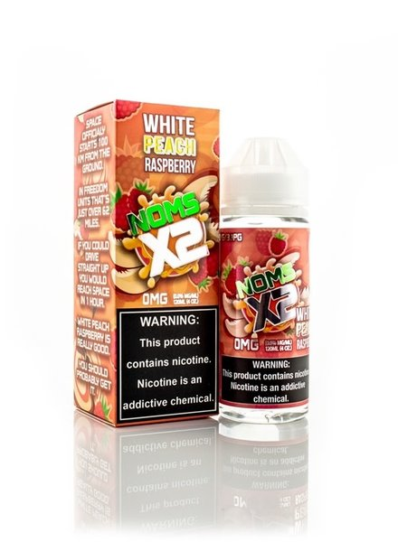 Noms X2 Noms X2 White Peach Raspberry 120ml
