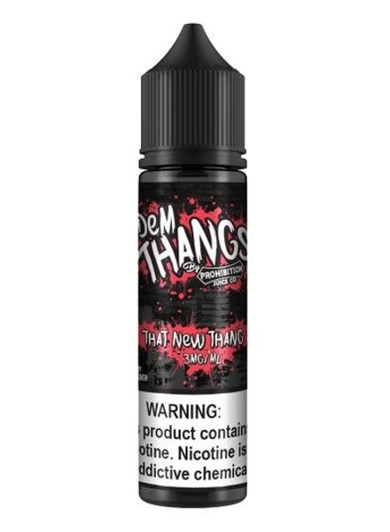 Prohibition Juice Co. Dem Thangs That New Thang 60ml