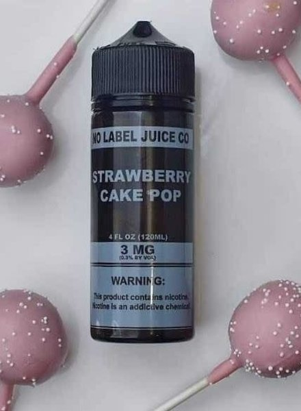 No Label Juice Co. No Label Juice Co. Strawberry Cake Pop 120ml