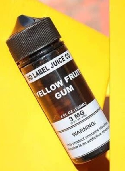 No Label Juice Co. No Label Juice Co. Yellow Fruit Gum 120ml