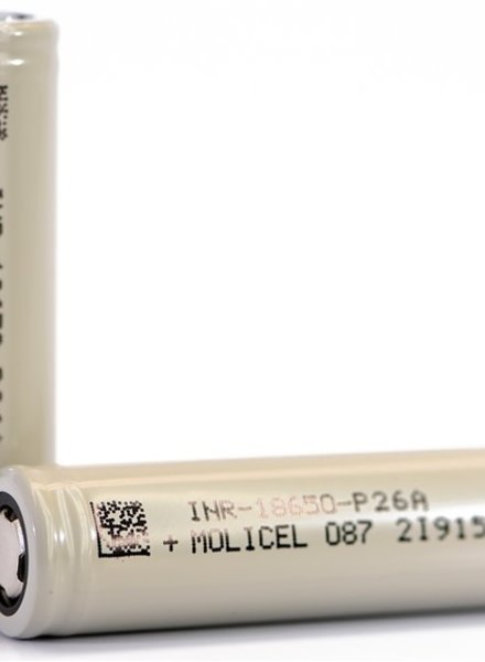 Molicel INR 18650 (P26A) 35A 2600mAh (Priced per Each Battery)