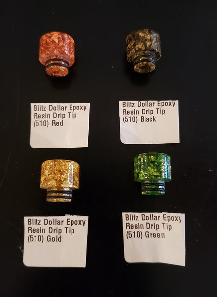 Blitz Dollar Epoxy Resin Drip Tip 510