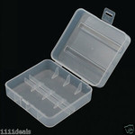 2 Bay Plastic Battery Case (26650)