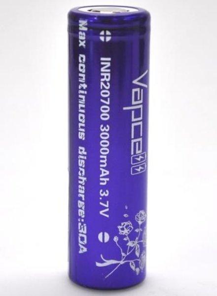Vapcell 20700 30A 3000mAh (Purple) (Set of 2)