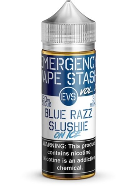 Emergency Vape Stash Blue Razz Slushie Ice 120ml