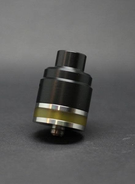 Flave Black Delrin Wide Bore Top Cap for Flave 24mm Tank (Drip tip not included)