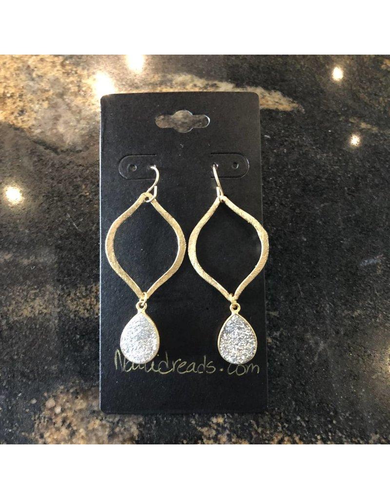Gold Dangle Druzy Earring