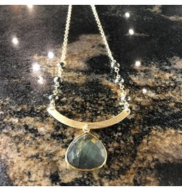 Gold Labrodite & Pyrite Necklace